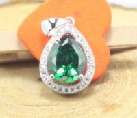 2013 best selling colorful selection classic design emerald cz pendant,AAA grade cz in wax micro pave setting 925silver pendant
