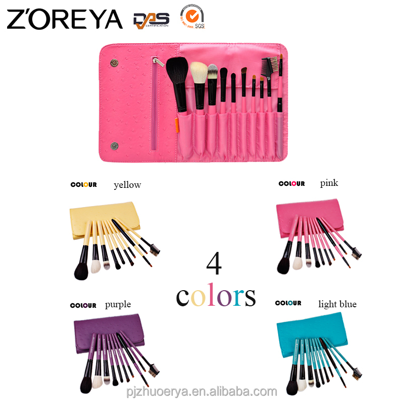 zp10 custom 10pcs Factory directly cosmetic kits makup brush set