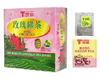 Rose Green Tea Bag, Paper Envelop