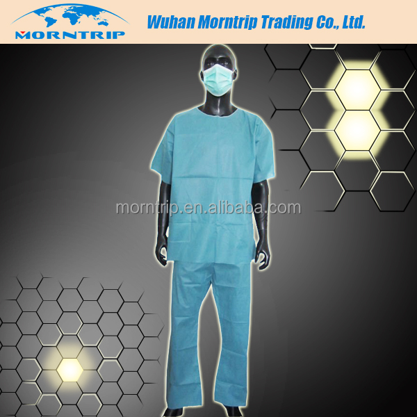 Disposable non woven medical scrubs for men