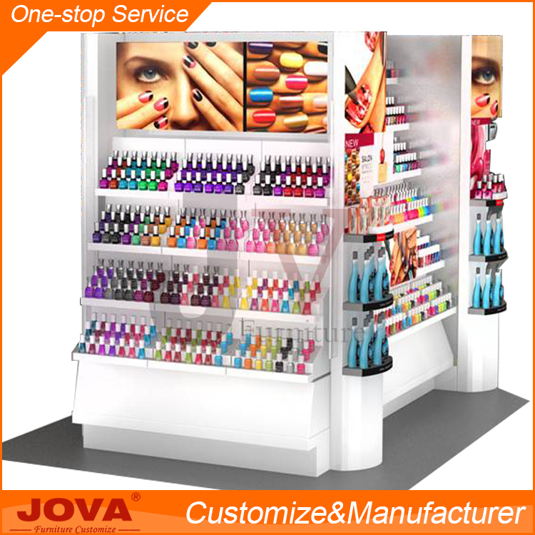 Nail salon equipment for nail polish display shelf rack for 24 hour nail salon nyc