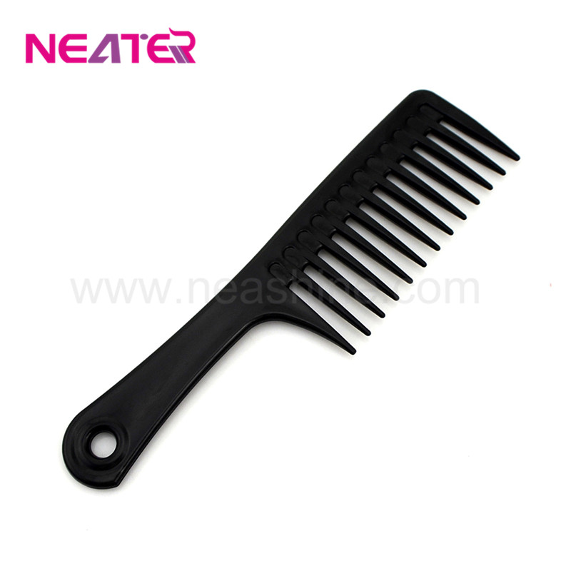 Wholesale common style wide tooth black plastic hair combs