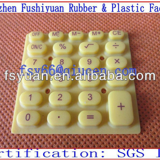 silicone computer keypads with conductive carbon pills spray laser back-lighted button silicone Mini calculator buttons