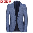 KKKNOW suit new spring fall blue suit men s fashion fashion Korean version casual suit jacket for men