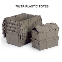 Moving And Storage Used 35kgs Plastic Container With Lids