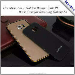 2015 High Quality New Arrival Mobile Phone Aluminum Metal bumper and PC Back Cover Case For Samsung Galaxy S6 G9200 Free package