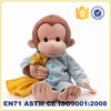 wholesale soft kids monkey toy with scrub dress stuffed plush animals