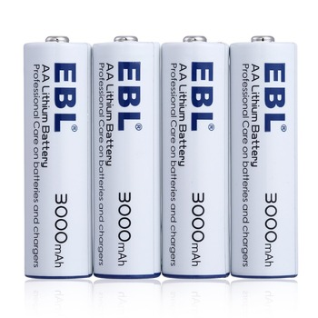 Wholesale Long Lasting EBL 3000mAh AA Battery Lithium Ion 1.5V Batteries Battery