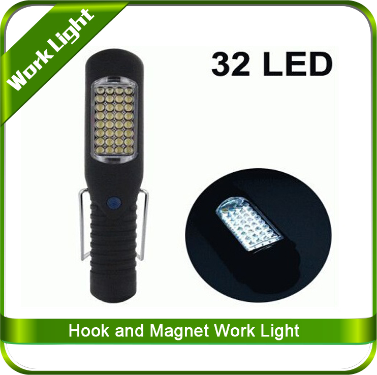 Super bright 32 LEDs on Body /Built-in retractable hook adjust to stand LED Light