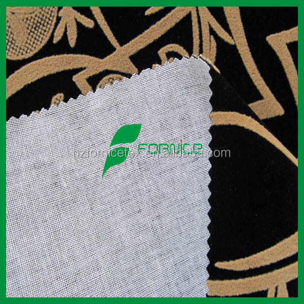 100 polyester china flock on flock home textile fabric