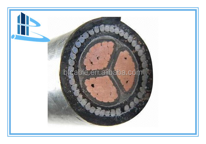 low voltage xlpe insulation steel wire armour underground copper cable
