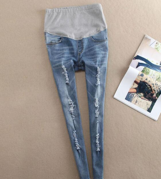Z81299B new pregnancy pants Maternity Jeans slim maternity long pants clothes