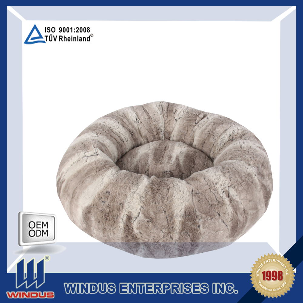 luxury plush removeable pet bed cushion in winter