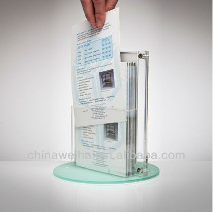 "Acrylic Clamp on Privacy Desk Divider Size: 12"" H x 17"" W"