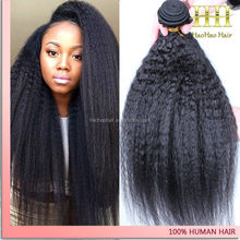 Material best brazilian hair wholesale,natural color yaki hair extension, wholesale price kinky straight yaki hair weave