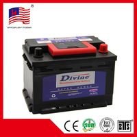 korean style DIN45MF 12V45AH strong heat-resistance car battery with A type terminal