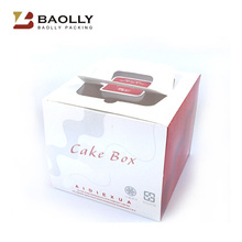 Wholesale cheap custom design color printed ivory cardboard window cake box with logo