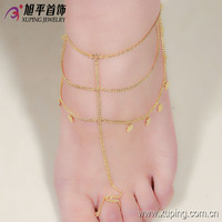 74024- 2016 fashion jewelry wholesale new 14k yellow gold anklet