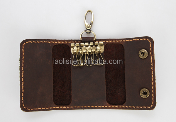 Leather car key holder vintage design 2015 hot sale products