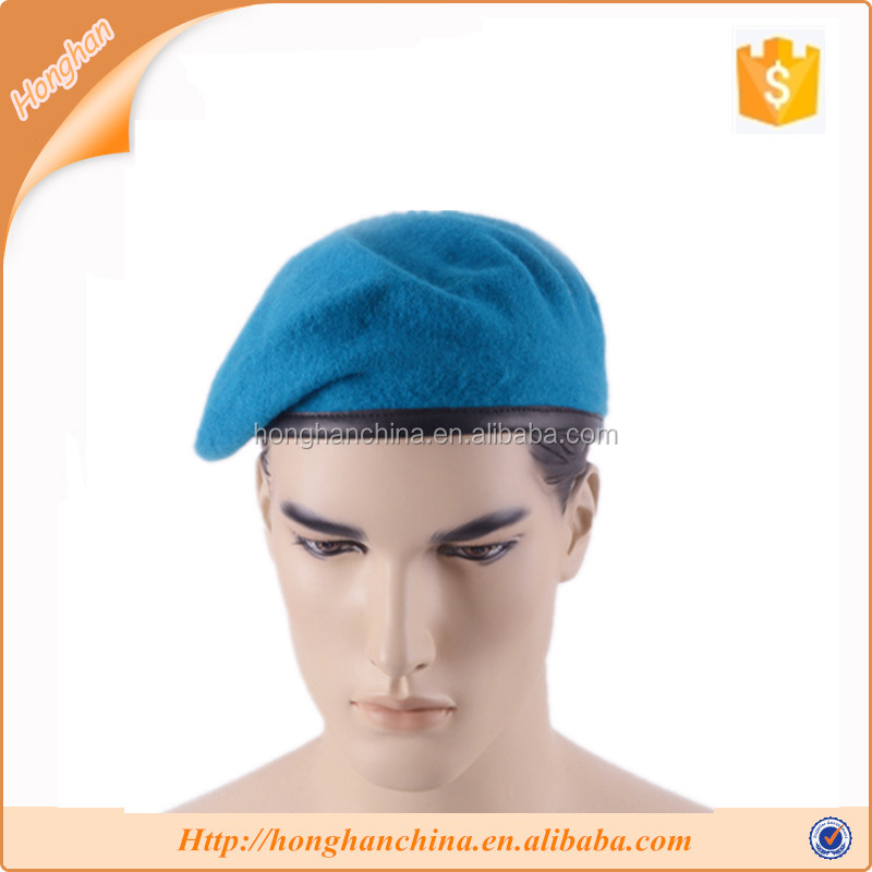 New German style men's winter pure wool beret hat