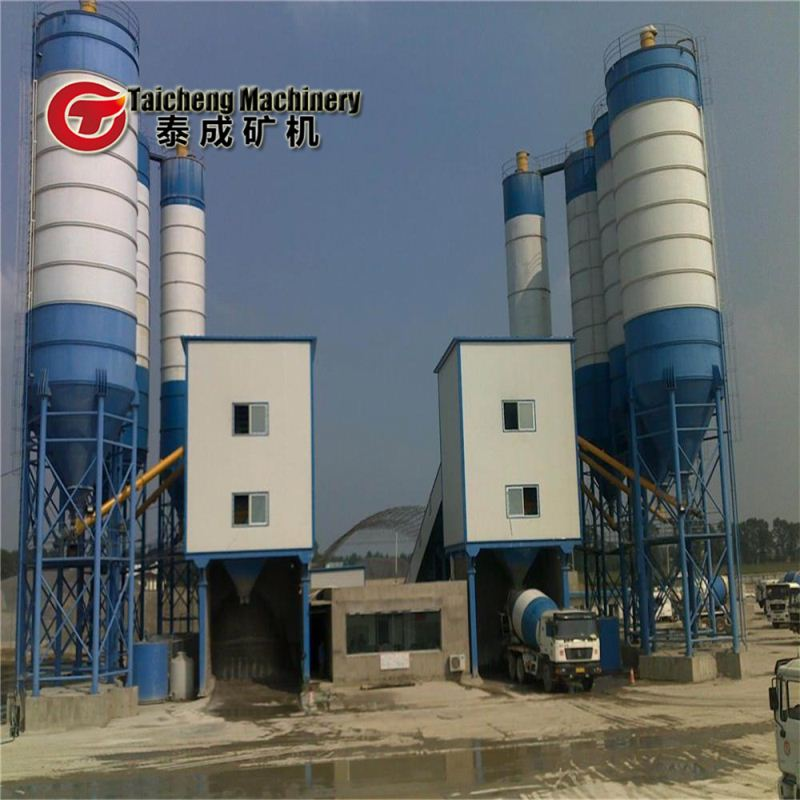 Top quality wet mix concrete batching plant hzs50 in Thailand