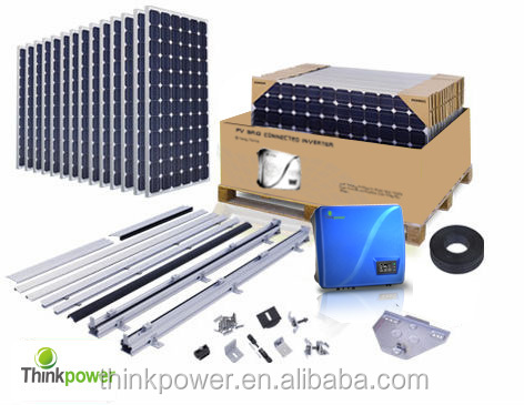 5KW solar system kits for home roof project