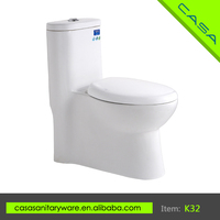 Good quality custom ceramic white upc one piece siphonic toilet for European