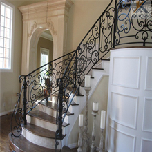 Interior customized nice design wrought iron stairs railing