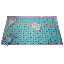 custom made foldable PP woven laminated camping floor mat for promotional