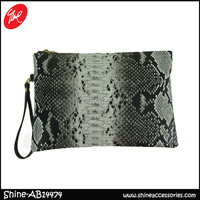 classic snake leather woman purse