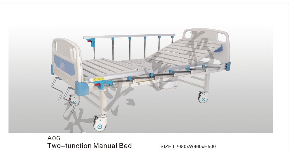 Hot Selling YONGXING Hospital Furniture Two Function Hospital Manual Bed Cheap Hospital Bed for Sale A06