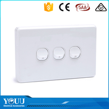 YOUU Wenzhou New 1 Gang Australian Standard SAA Approved Wall Switch Electrical Light Switches 250V