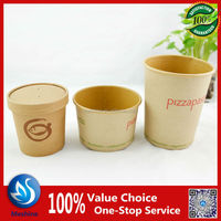 Deli Supplies 16oz Soup Container With Lid - Paper Cup Tub Pasta