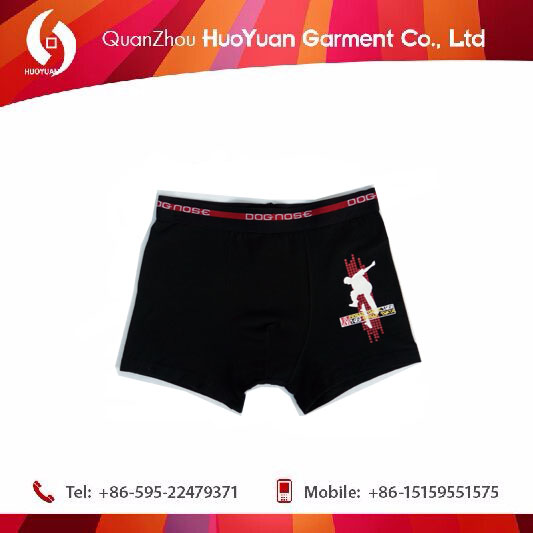 2016 Latest fashion cotton underwear for boy from China Huoyuan factory