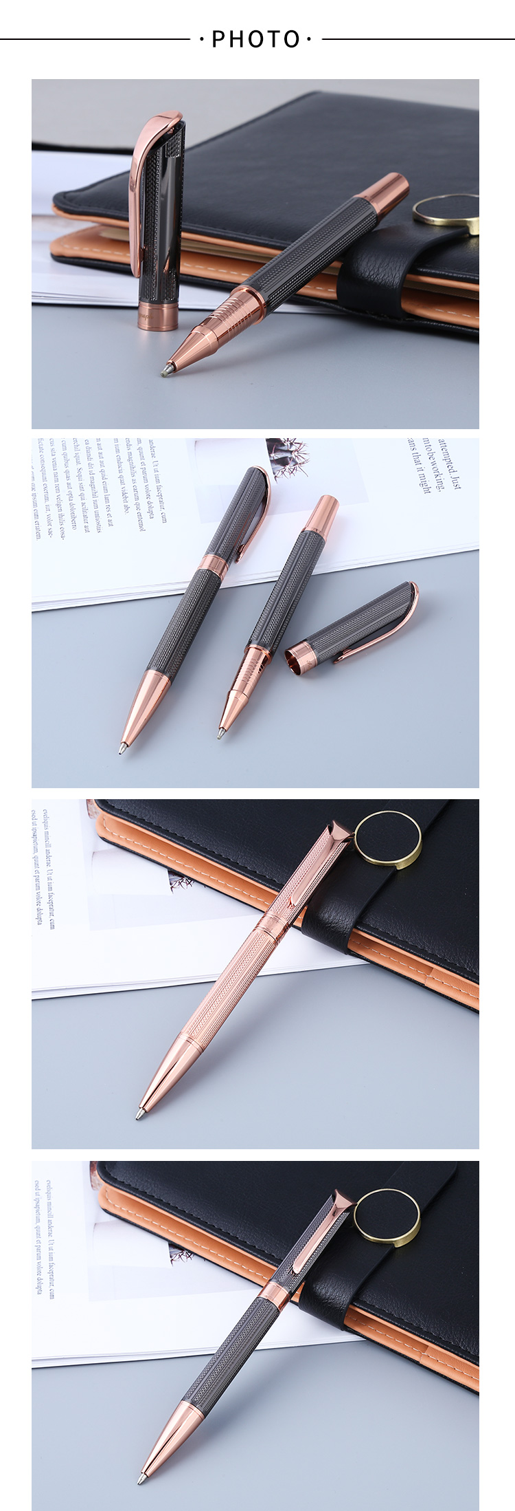 promotional gifts ball pen Business Writing Gift Metal Gold Pen with Logo Printed