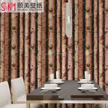 New Wooden Design Wallpaper, Natural Style Wallpaper For Home Decoration