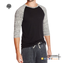 Wholesale men blank 3/4 sleeve baseball jersey shirts