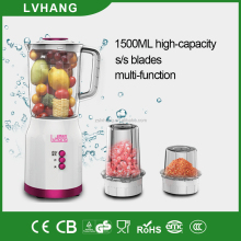 300W plastic 1.5L juice blender with grinder