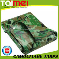90gsm~280gsm China Manufactured Waterproof PE Camouflage Tarpaulin Ground Sheet Cover