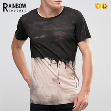New Design Novel Paint Dripping Printed T Shirt For Men