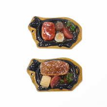 decorative miniature artificial 3D fake food in bowl