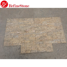 High Quality Beauty Cheap Exterior Decorative tiger skin yellow Wall Panel Cultural Stone