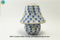 mosaic table lamp and 20 inch candle holder