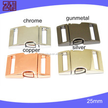metal curved buckle, metal bag buckle, metal buckle survival paracord bracelet buckles for bag