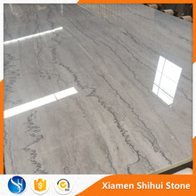 Italian silver Polished import grey marble slab with wave vein
