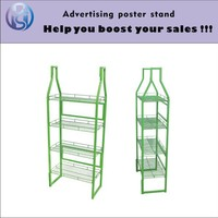 Customizable green color iron steel wire display rack for shop HS-ZS04