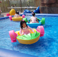 Inflatable water pool for cheap kids hand aqua cycle paddle boat