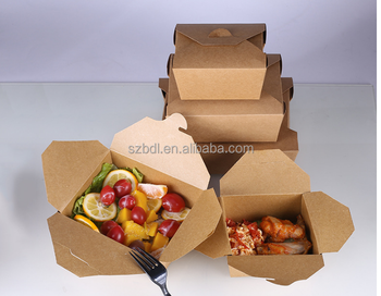 Take out fast food kraft paper box for lunch