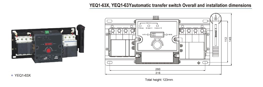 yeq1 ats generator change over switch