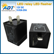 New Flasher relay for indicator car motorcycle motorbike bike resistor 2 Pin 12V 21W